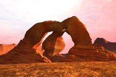 Paesaggio del Marte Fotografie Stock Libere da Diritti