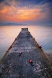 Paesaggio del molo Fotografie Stock
