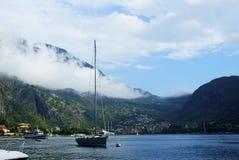 Paesaggio del Montenegro, città di Cattaro Fotografia Stock
