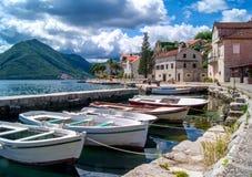 Paesaggio del Montenegro Perast Fotografia Stock Libera da Diritti