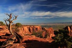 Paesaggio del monumento nazionale di Colorado - U.S.A. fotografia stock libera da diritti