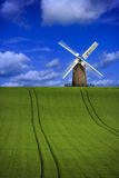 Paesaggio del mulino a vento Fotografie Stock Libere da Diritti