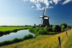 Paesaggio del mulino a vento in Olanda Immagine Stock