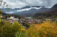 Paesaggio del negativo per la stampa di cartamoneta Adige di Trentino Fotografia Stock Libera da Diritti