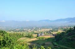 Paesaggio del Nepal Fotografia Stock