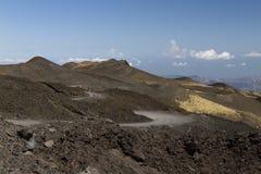 Paesaggio del nord di Etna Fotografia Stock