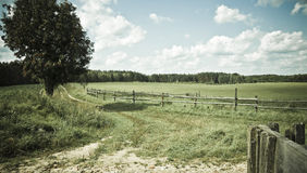 Paesaggio del paese. immagini stock