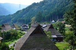 Paesaggio del paese in autunno nel Giappone Fotografia Stock