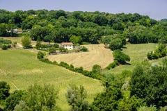 Paesaggio del paese da Massa Martana, Umbria Immagini Stock Libere da Diritti