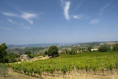 Paesaggio del paese da Orvieto a Todi, Umbria, Italia Fotografia Stock