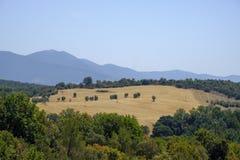 Paesaggio del paese da Orvieto a Todi, Umbria, Italia Immagini Stock Libere da Diritti