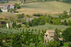 Paesaggio del paese da Orvieto, Umbria, Italia Immagini Stock