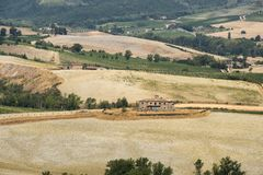 Paesaggio del paese da Orvieto, Umbria, Italia Immagine Stock Libera da Diritti