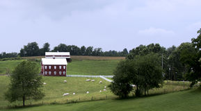 Paesaggio del paese dell'azienda agricola dell'Ohio fotografia stock libera da diritti