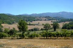 Paesaggio del paese fra Rieti Lazio e Terni Umbria Fotografie Stock Libere da Diritti