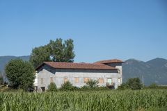 Paesaggio del paese fra Rieti Lazio e Terni Umbria Immagine Stock