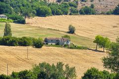Paesaggio del paese fra Rieti Lazio e Terni Umbria Fotografia Stock Libera da Diritti
