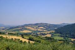 Paesaggio del paese lungo la strada a Todi Fotografia Stock Libera da Diritti