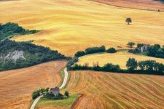 Paesaggio del paese Marche (in Italia) Fotografia Stock Libera da Diritti