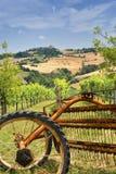 Paesaggio del paese Marche (in Italia) Immagine Stock Libera da Diritti