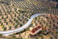 Paesaggio del paese in Spagna Fotografia Stock Libera da Diritti
