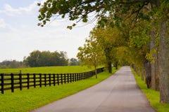 Paesaggio del paese su inizio della stagione di autunno Fotografie Stock