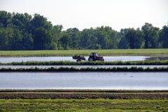 Paesaggio del paese vicino a Pavia Italia Fotografia Stock
