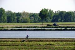 Paesaggio del paese vicino a Pavia Italia Immagini Stock Libere da Diritti