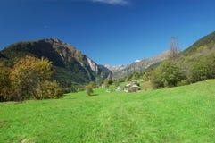 Paesaggio del paesino di montagna Fotografia Stock Libera da Diritti