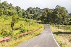 Paesaggio del Panama Boquete, traccia del quetzal fotografia stock libera da diritti
