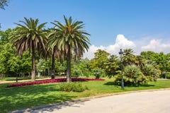 Paesaggio del parco di Ciutadella, Barcellona, Spagna fotografie stock libere da diritti