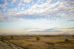 Paesaggio del parco naturale di Vacaresti, Bucarest, Romania Immagini Stock
