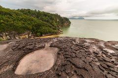 Paesaggio del parco nazionale di Bako Immagini Stock Libere da Diritti