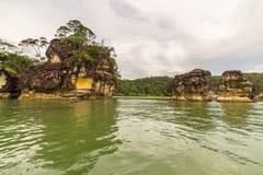 Paesaggio del parco nazionale di Bako, malese Borneo Immagini Stock