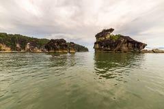 Paesaggio del parco nazionale di Bako, malese Borneo Fotografia Stock Libera da Diritti