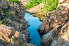 Paesaggio del parco nazionale di Kakadu (Territorio del Nord Australia) vicino all'allerta di Gunlom Immagini Stock Libere da Diritti