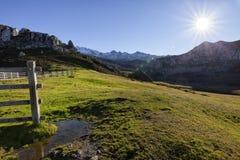 Paesaggio del parco nazionale di Picos de Europa fotografie stock