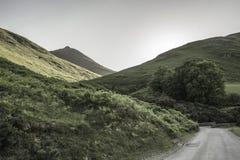 Paesaggio del parco nazionale del distretto del lago, Cumbria, Regno Unito, primavera 2017 fotografia stock libera da diritti