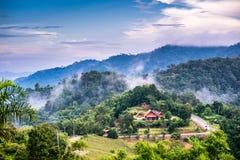 Paesaggio del parco nazionale a Nan, Tailandia Fotografie Stock Libere da Diritti