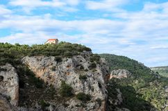 Paesaggio del picco di alta montagna Fotografie Stock