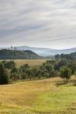 Paesaggio del polacco di estate in montagne di Sudety Immagine Stock Libera da Diritti
