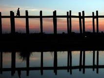Paesaggio del ponticello di Ubein Fotografie Stock