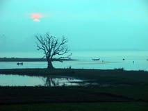Paesaggio del ponticello di Ubein Fotografia Stock Libera da Diritti