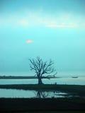 Paesaggio del ponticello di Ubein Immagini Stock
