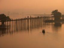Paesaggio del ponticello di Ubein Fotografia Stock