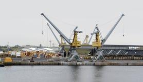 Paesaggio del porto Immagini Stock