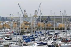 Paesaggio del porto Fotografie Stock