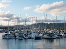 Paesaggio del porto Fotografie Stock Libere da Diritti
