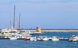 Paesaggio del porto di Casamicciola Terme, ischi Fotografia Stock Libera da Diritti