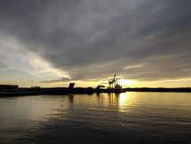 Paesaggio del porto di Larvik, Norvegia Paesaggio scandinavo Fotografie Stock